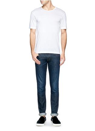 模特儿示范图 - 点击放大 - ZIMMERLI - 纯棉圆领T恤