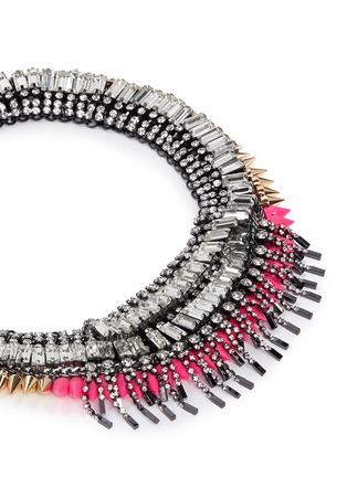Detail View - Click To Enlarge - Venna - Crystal fringe spike necklace