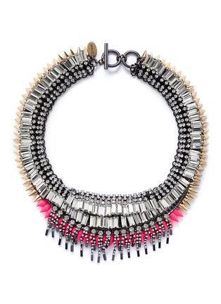 Main View - Click To Enlarge - Venna - Crystal fringe spike necklace