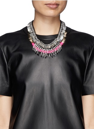 Figure View - Click To Enlarge - Venna - Crystal fringe spike necklace