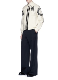 Dries Van Noten Wide leg wool twill pants