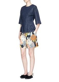 Dries Van Noten'Pitney' floral print crepe boxy shorts