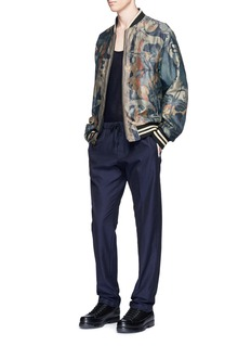 Dries Van Noten Reversible floral print bomber jacket