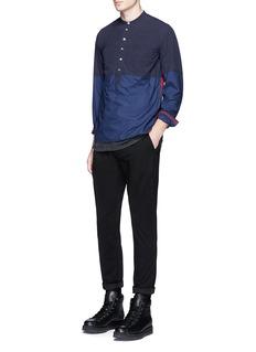 JohnundercoverPatchwork cotton poplin shirt