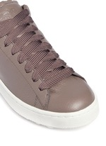 'C101' pebbled leather sneakers