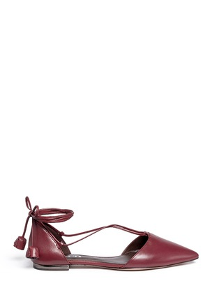 COACH - 'Johnson' leather lace-up d'Orsay flats