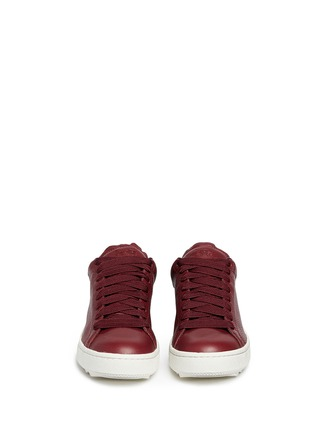 Front View - Click To Enlarge - Coach - 'C101' pebbled leather sneakers