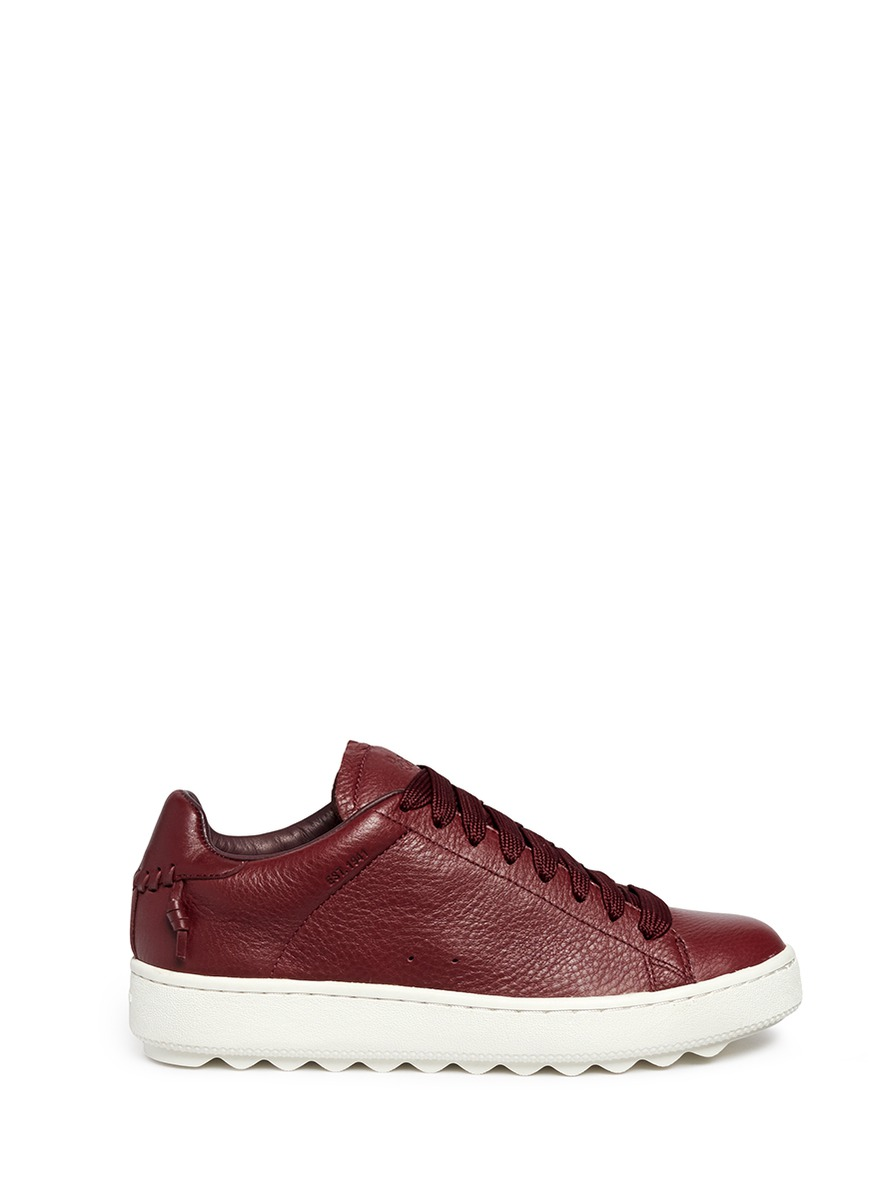C101 pebbled leather sneakers by COACH SHOES