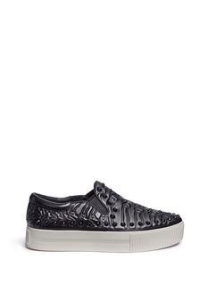 Ash'Kripton' skeletal detail stud leather skate slip-ons