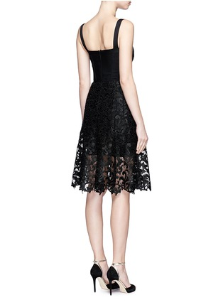 Back View - Click To Enlarge - Oscar de la Renta - Baroque guipure lace skirt overlay corset dress