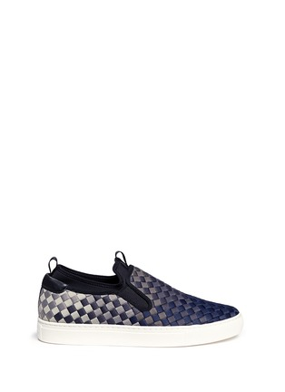 Main View - Click To Enlarge - Ash - 'Larry' ombré woven skate slip-ons