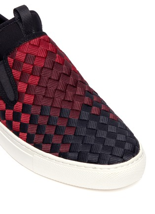 Detail View - Click To Enlarge - Ash - 'Larry' ombré woven skate slip-ons