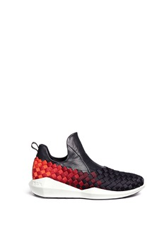 Ash'Quake' leather cuff woven ombré sneakers