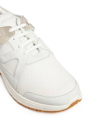 Detail View - Click To Enlarge - Neil Barrett - 'Molecular Runner' nubuck leather mesh sneakers