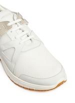 'Molecular Runner' nubuck leather mesh sneakers