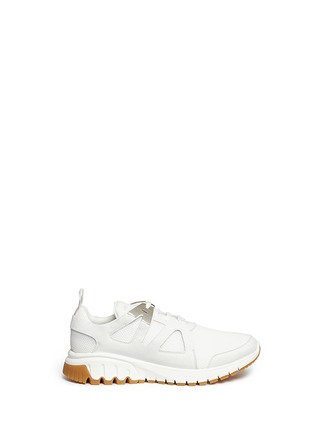 Main View - Click To Enlarge - Neil Barrett - 'Molecular Runner' nubuck leather mesh sneakers