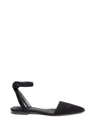 Main View - Click To Enlarge - Alexander Wang  - 'Lauren' ankle strap suede flats
