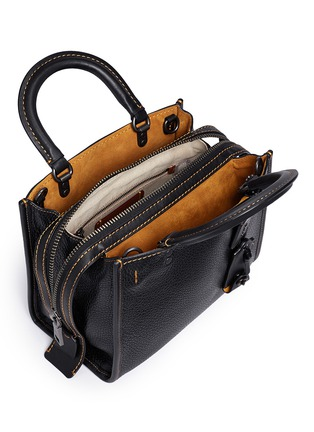Detail View - Click To Enlarge - Coach - 'Rogue 25' glovetanned leather satchel