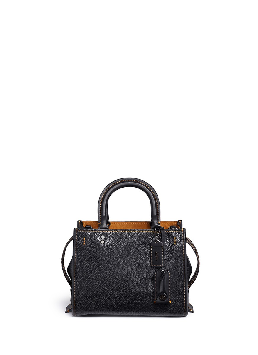 Rogue 25 glovetanned leather satchel by Coach