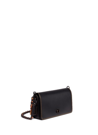 Front View - Click To Enlarge - Coach - 'Dinky' glovetanned leather crossbody bag