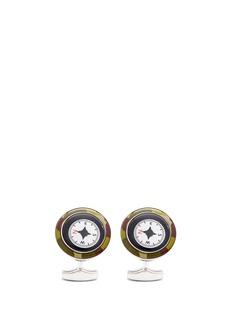 TateossianCamouflage print compass cufflinks