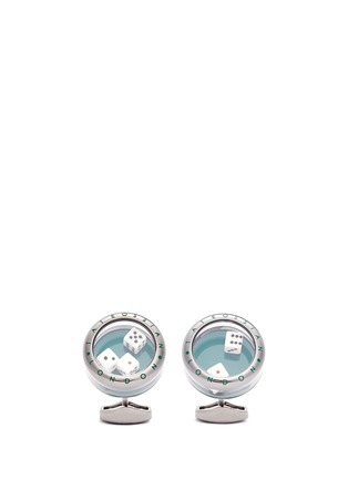 Main View - Click To Enlarge - Tateossian - 'Poker' dice Perspex® glass cufflinks
