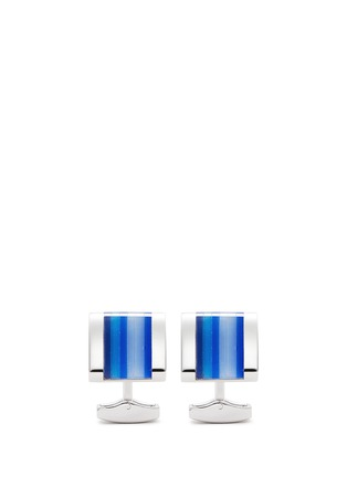 Main View - Click To Enlarge - Tateossian - Colourblock stripe cufflinks