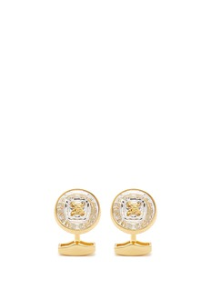 Tateossian Swarovski crystal button shirt stud and cufflink set