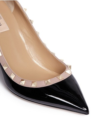 Detail View - Click To Enlarge - Valentino - 'Rockstud' patent leather pumps