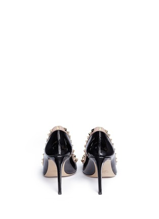Back View - Click To Enlarge - Valentino - 'Rockstud' patent leather pumps