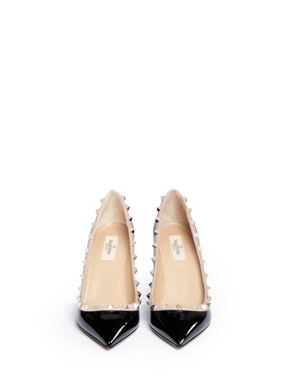 Front View - Click To Enlarge - Valentino - 'Rockstud' patent leather pumps