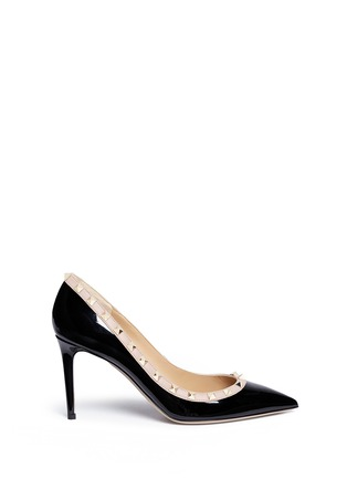Main View - Click To Enlarge - Valentino - 'Rockstud' patent leather pumps