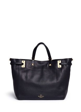 Detail View - Click To Enlarge - Valentino - 'My Rockstud' double handle leather tote