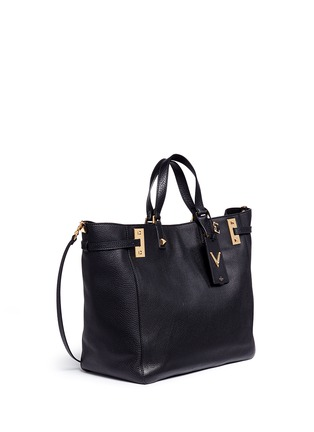 Figure View - Click To Enlarge - Valentino - 'My Rockstud' double handle leather tote