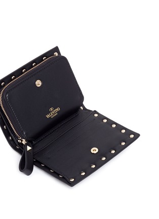 Detail View - Click To Enlarge - Valentino - 'Rockstud' leather fold flap wallet