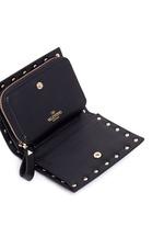 'Rockstud' leather fold flap wallet