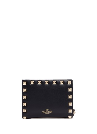 Valentino - 'Rockstud' leather fold flap wallet