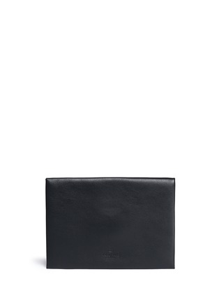Back View - Click To Enlarge - Valentino - 'Rockstud Untitled 12' leather envelope clutch