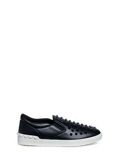 Valentino'Rockstud' leather skate slip-ons