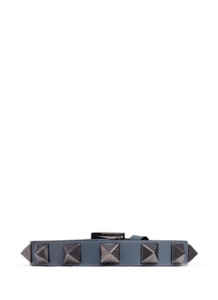 Main View - Click To Enlarge - Valentino - 'Rockstud' leather bracelet