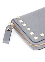 'Rockstud' leather zip continental wallet
