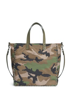 Valentino 'Rockstud' camouflage print reversible tote bag