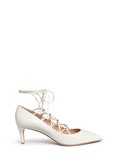 Valentino 'Rockstud' caged lace-up leather pumps