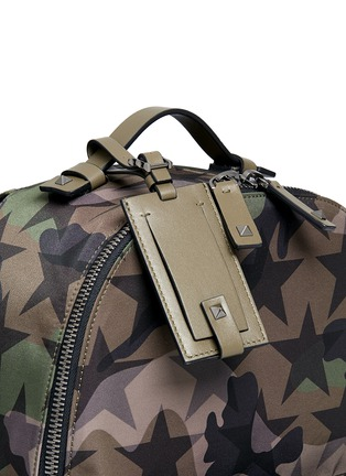 Detail View - Click To Enlarge - Valentino - 'Camustars' nylon canvas backpack