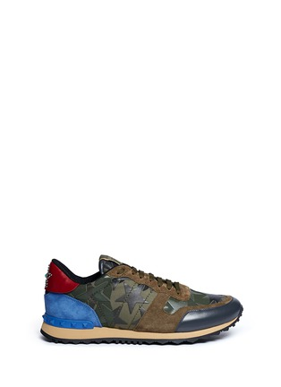 Main View - Click To Enlarge - Valentino - 'Camustars Rockrunner' embellished sneakers