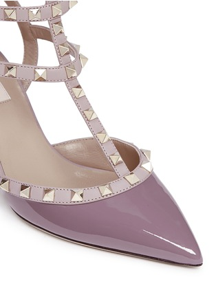 Valentino - 'Rockstud' caged patent leather pumps