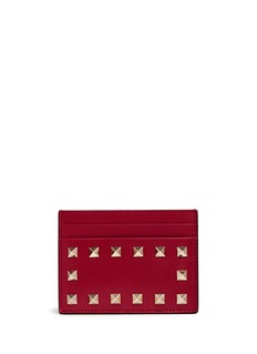 Valentino 'Rockstud' leather card holder