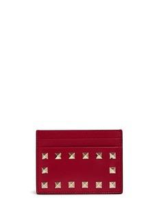 Valentino'Rockstud' leather card holder