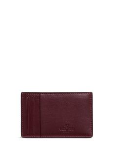 Valentino'Rockstud' leather cardholder
