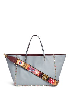 Valentino 'Guitar Rockstud Rolling' Enchanted Wonderland strap reversible leather tote